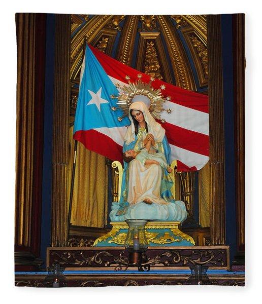 Virgin Mary In Church Fleece Blanket