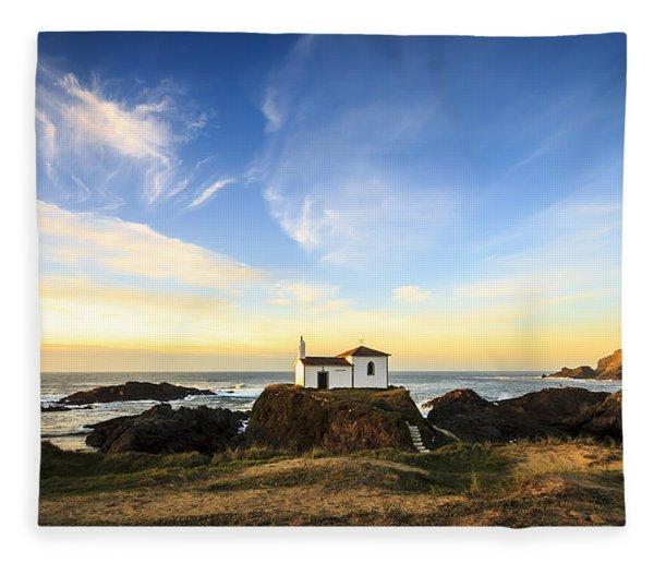 Virxe Do Porto Meiras Galicia Spain Fleece Blanket