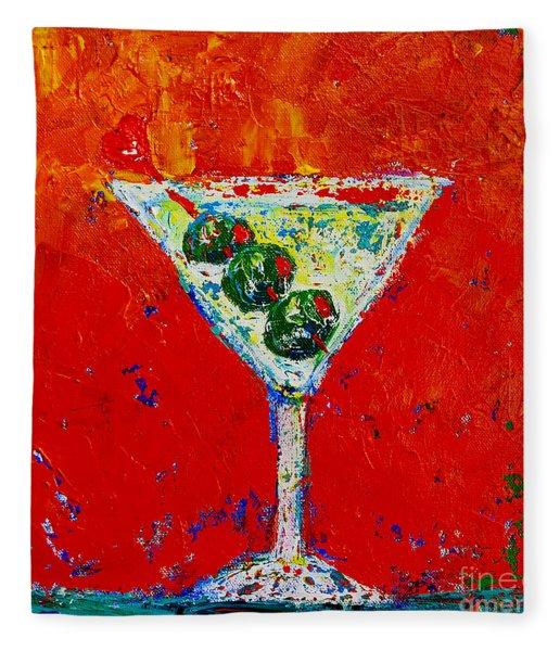Vodka Martini Shaken Not Stirred - Martini Lovers - Modern Art Fleece Blanket