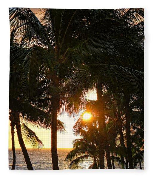 Waikoloa Palms Fleece Blanket