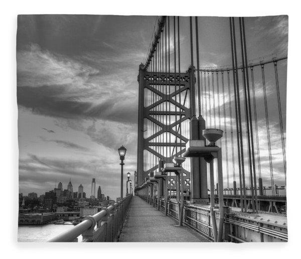 Walking To Philadelphia Fleece Blanket