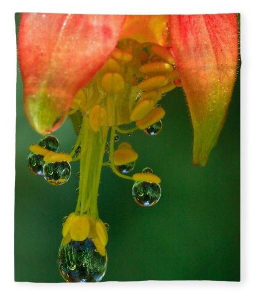 Water Droplets Fleece Blanket