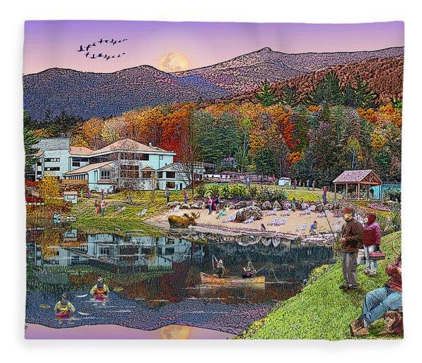 Waterville Estates In Autumn Fleece Blanket
