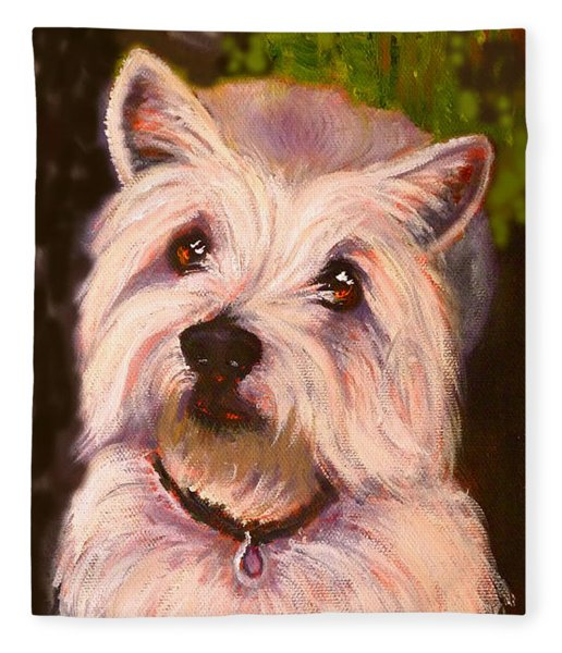 West Highland Terrier Reporting For Duty Fleece Blanket