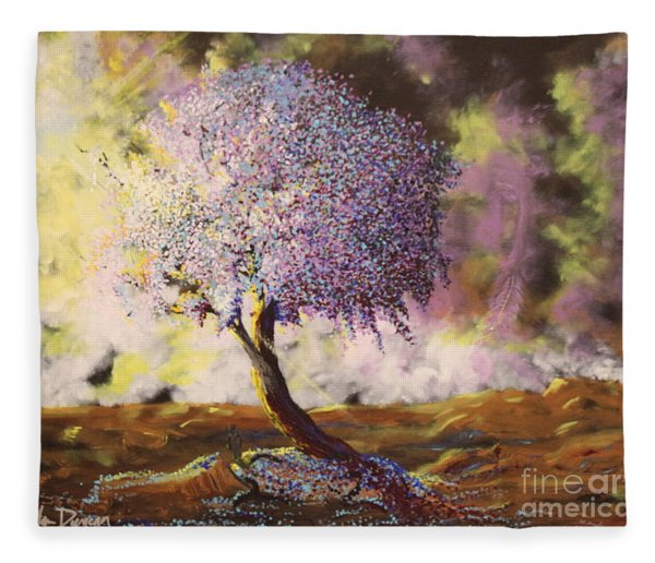 What Dreams May Come Spirit Tree Fleece Blanket