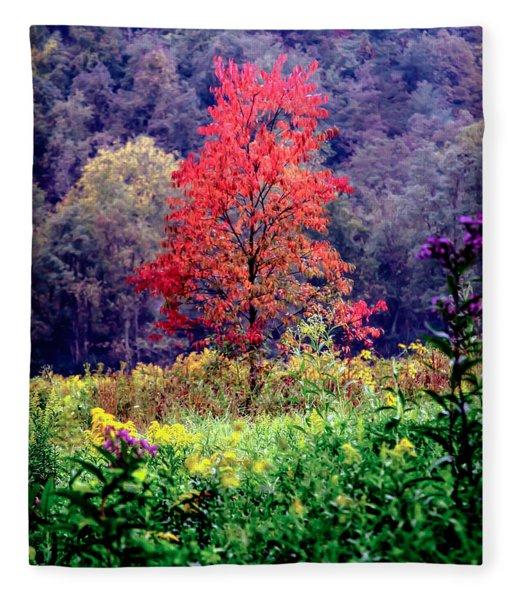 Wildwood Flowers Fleece Blanket