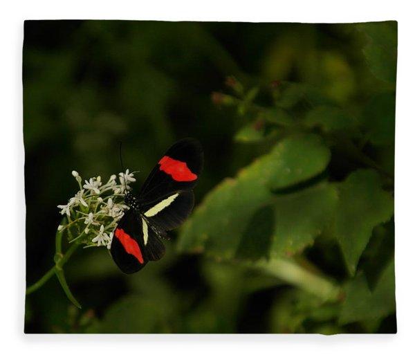 With Wings Spread Fleece Blanket