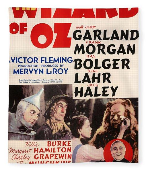 Wizard Of Oz Vintage Movie Poster Fleece Blanket