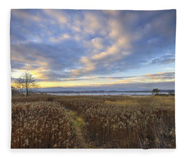 Wonderful Sunset Fleece Blanket