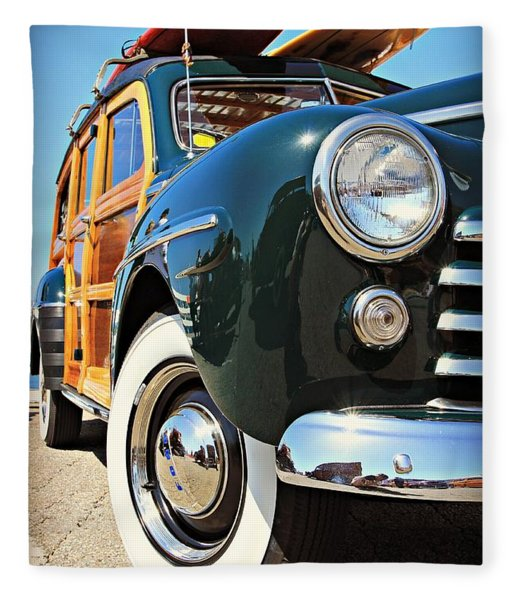 Woodie On The Wharf Fleece Blanket