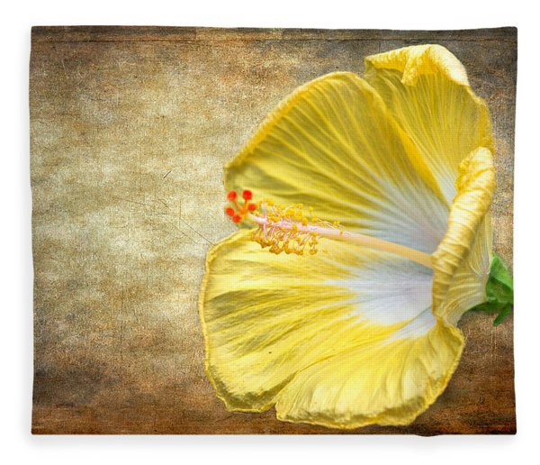 Fleece Blanket featuring the photograph Yellow Hibiscus by Garvin Hunter