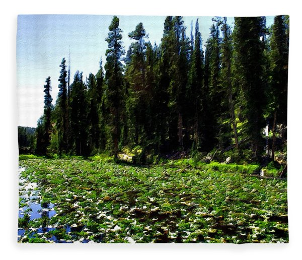 Yellowstone Lily Pads  Fleece Blanket