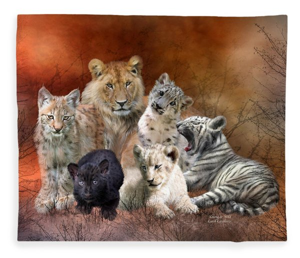 Young And Wild Fleece Blanket