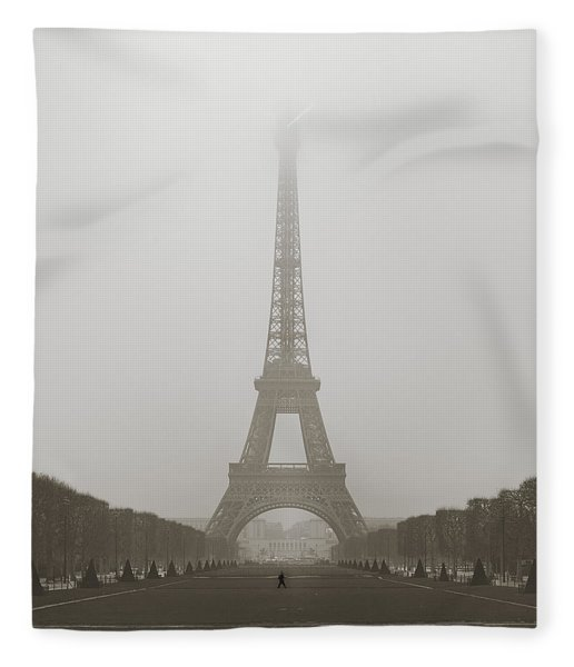 Foggy Morning In Paris Fleece Blanket