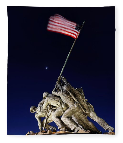 Iwo Jima Memorial At Dusk Fleece Blanket