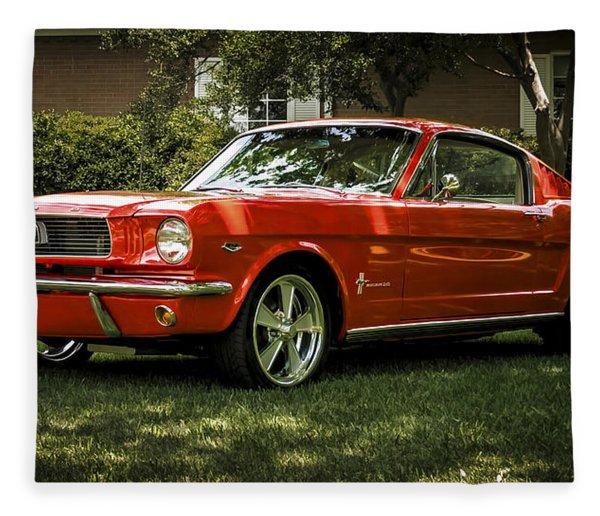 '66 Mustang Fleece Blanket