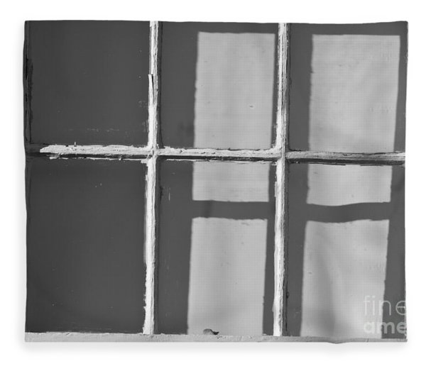 Abstract Window In Light And Shadow Fleece Blanket