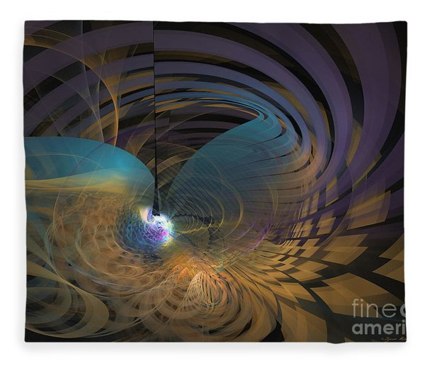Fleece Blanket featuring the digital art Angel Of The Subconscious by Sipo Liimatainen
