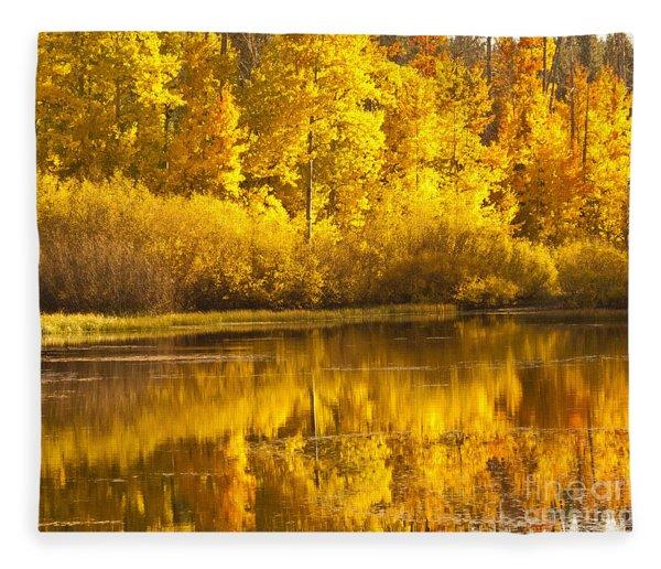 Aspen Pond Fleece Blanket