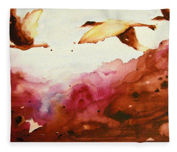 Autumn Flight Fleece Blanket