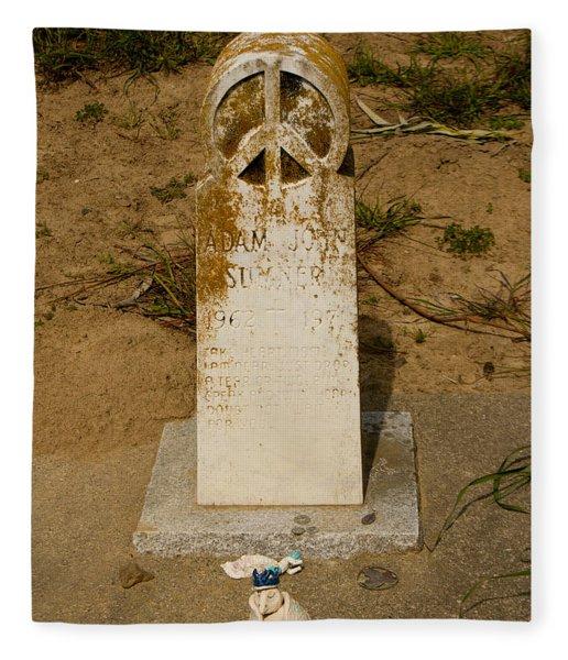Bodega Bay Cemetery Fleece Blanket