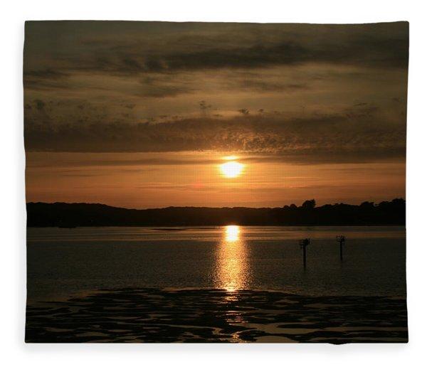 Bodega Bay Sunset II Fleece Blanket