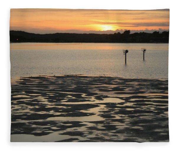 Bodega Bay Sunset Fleece Blanket