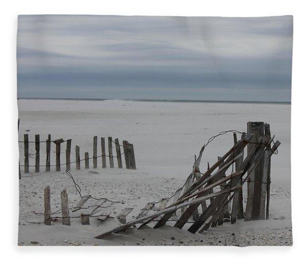 Broken Down Fleece Blanket