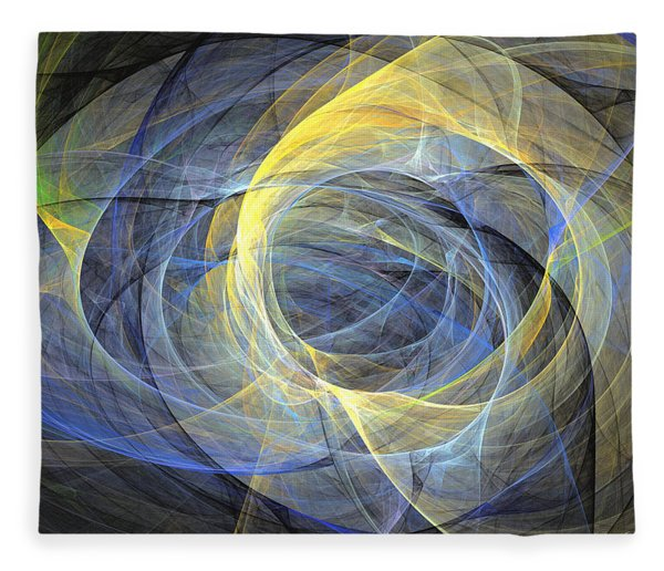 Fleece Blanket featuring the digital art Delightful Mood Of Abstracted Mind by Sipo Liimatainen