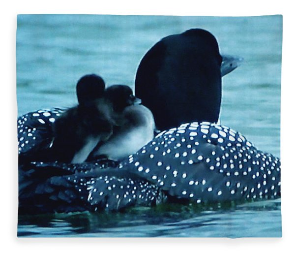 Fleece Blanket featuring the photograph Duck Family Joy In The Lake  by Colette V Hera  Guggenheim