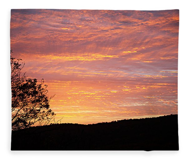 Fall Sunrise Fleece Blanket