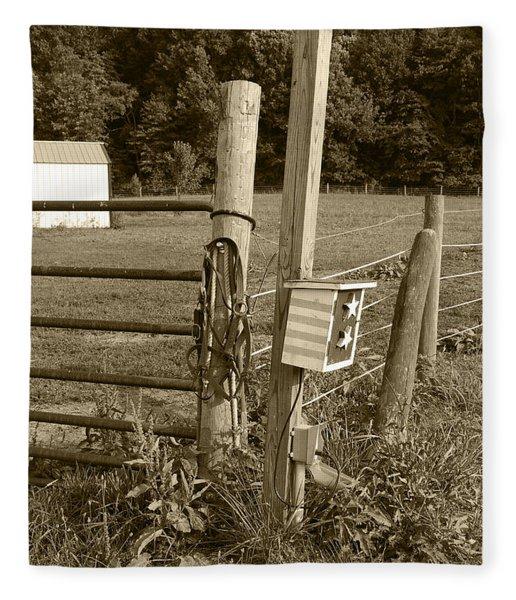 Fence Post Fleece Blanket