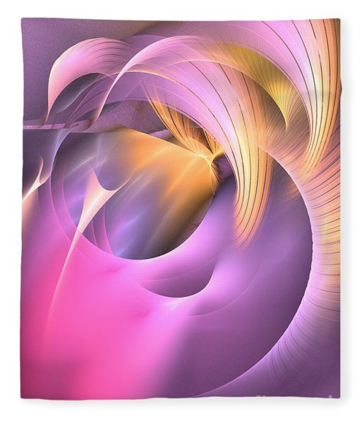 Fleece Blanket featuring the digital art Cornu Copiae - Abstract Art by Sipo Liimatainen