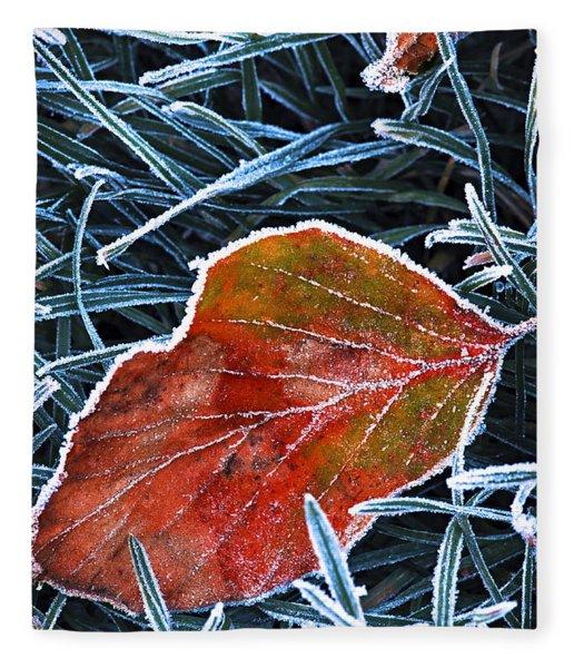 Frosty Leaf Fleece Blanket