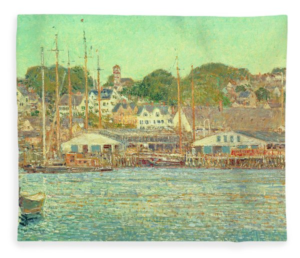 Gloucester Harbor Fleece Blanket