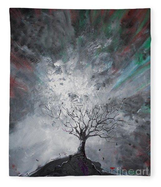 Haunted Tree Fleece Blanket