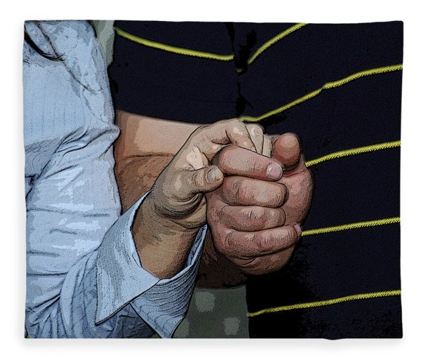 Fleece Blanket featuring the photograph Holding Hands by Carolyn Marshall