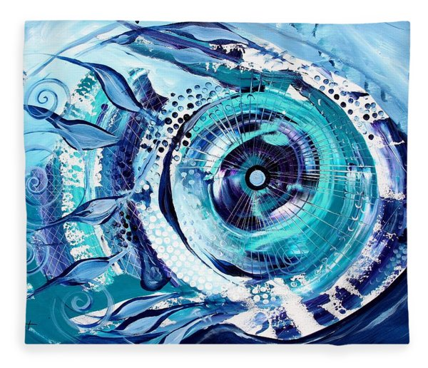 Icehole Fish Fleece Blanket