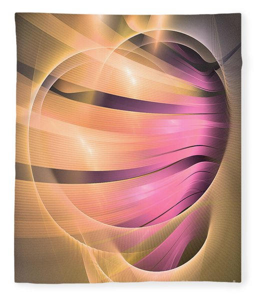 Fleece Blanket featuring the digital art In Medias Res -abstract Art by Sipo Liimatainen