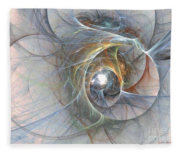Fleece Blanket featuring the digital art Interwoven by Sipo Liimatainen