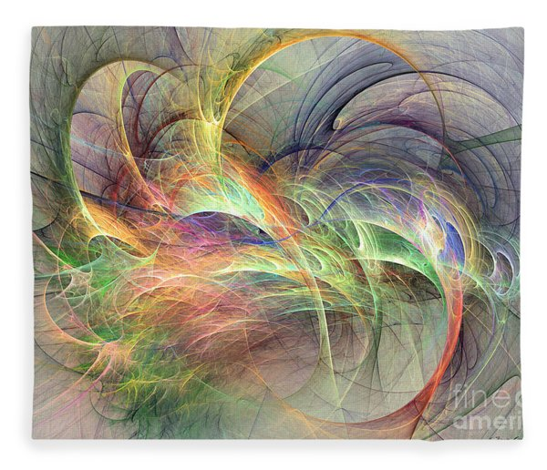 Fleece Blanket featuring the digital art I've Made Up My Mind by Sipo Liimatainen