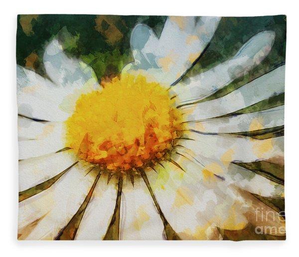 Lonely Daisy Fleece Blanket