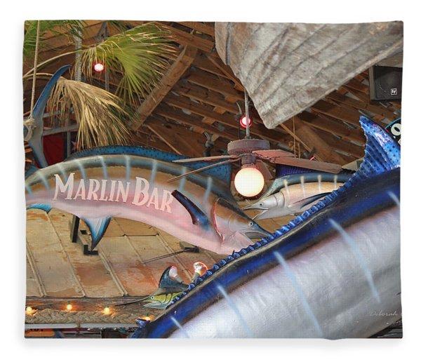Marlin Bar Fleece Blanket