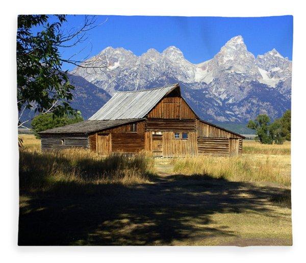Mormon Row Barn Fleece Blanket
