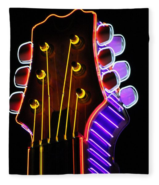 Neon Bridge Fleece Blanket