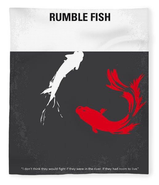 No073 My Rumble Fish Minimal Movie Poster Fleece Blanket