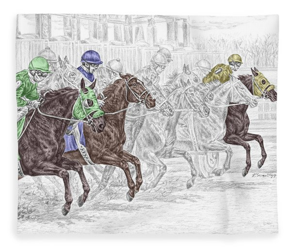 Odds Are - Tb Horse Racing Print Color Tinted Fleece Blanket