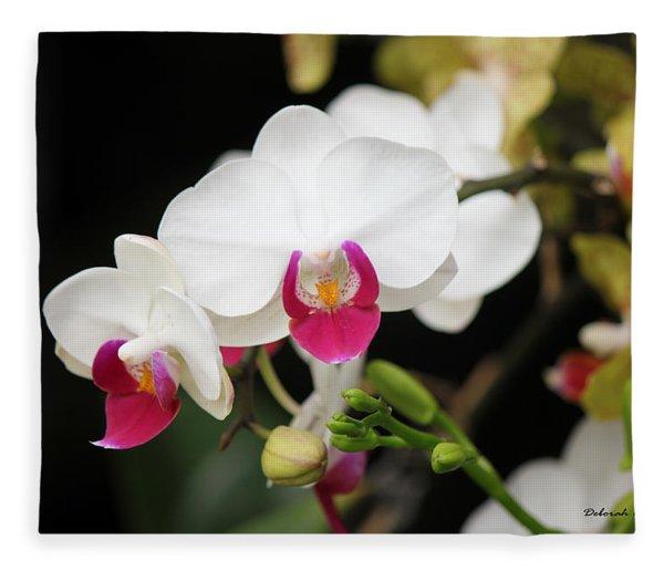 Orchid Buds Fleece Blanket