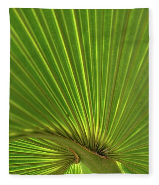 Palm Leaf Fleece Blanket