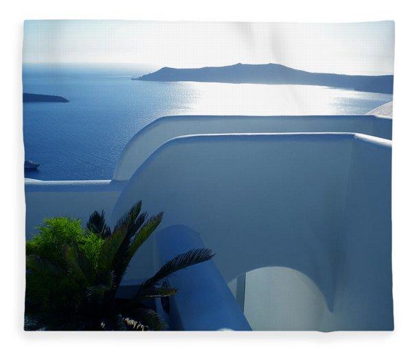 Fleece Blanket featuring the photograph Peaceful Sunset Santorini by Colette V Hera  Guggenheim
